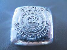 MONARCH POURED CAST SILVER 50 GRAM (50g) 999+ FINE SILVER BULLION BAR (NOT GOLD)