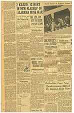 Newspaper CHICAGO COPS FIND CAR USED BY DILLINGER May 9 1934 190635CR B13