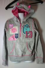 Disney Store Monsters Inc University Girls 7 / 8 Pixar Sully Cheer Hoodie Horns