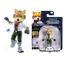 FOX McCLOUD figure STAR FOX 64 3D world of nintendo ARWING starfox JAKKS PACIFIC