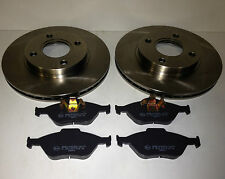 FORD FIESTA MK6 FRONT BRAKE DISCS AND PADS VENTED 258mm WITH ABS