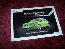 Prospectus / Brochure SEAT Ibiza TechLight 2012 //