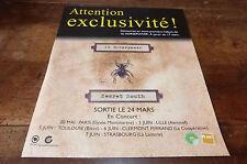 16 HORSEPOWER - SECRET SOUTH!FRENCH!!PUBLICITE / ADVERT