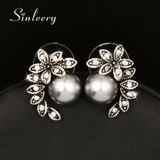 5 Color New Gorgeous Rhinestone Pearl Stud Earrings For Women Wedding Engagement