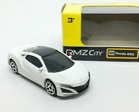 Honda NSX White Diecast Car Scale 1/64 (Approx 2.5 inches) RMZ City
