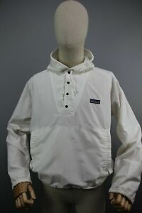 rare Vintag 80s Patagonia Anorac Mens White Made in Canada Jacket  Sz S-M