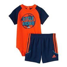 "Baby Boy Adidas ""Little Kicker"" Tee & Shorts Set Size 6 Months NWT"