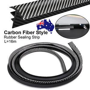 1.6M AU Rubber Carbon Fiber Car Dashboard Gap Filling Sealing Strip Accessories