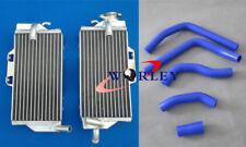 For HONDA CR125 CR125R CR 125 R 2005 2006 2007 Aluminum radiator & BLUE Hose