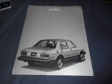 1980 VW Volkswagen Jetta USA Market Color Brochure Catalog Prospekt