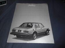 1980 VW Volkswagen Jetta USA Market Color Brochure Catalog Prospekt