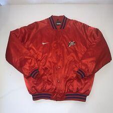 Nike Satin Bomber Jacket Philadelphia 76ers Mens Xxl Red Winter Coat