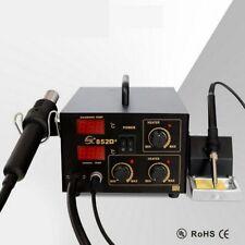 2 In 1 YAOGONG 852D+ Solder Iron Hot Air Gun Rework Station Digital Display