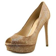 """Nine West 100% Leather Very High (greater than 4.5\) Women's Heels"""""""