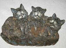 Antique Primitive Victorian Bradley Hubbard Cat Kitten Card Key Coin Art Tray