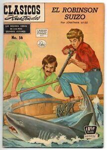 CLASICOS ILUSTRADOS #56 El Robinson Suizo, La Prensa Mexican Comic 1957