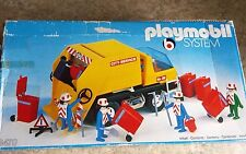 PLAYMOBIL # 3470 Vintage Playmobil System City Service Garbage Truck