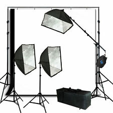 Lusana Studio Softbox Equipment Photography Light Muslin Backdrop Stand Kit
