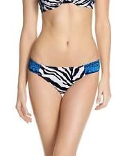White XL Navy Tommy Bahama Breton Stripe Side-Tie Bikini Bottoms TSW44439B M
