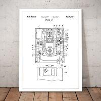 Floppy Disk Patent Vintage Blueprint Art Poster Print - A3 A2 A1 A0 Framed