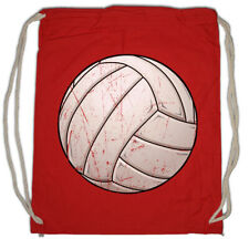 Volleyball I Drawstring Bag Player Passion Love Addiction Ball Court Field