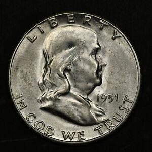 1951-S Franklin Half Dollar BU - LUSTROUS!
