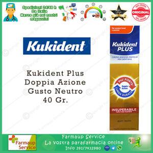 Kukident Plus Doppia Azione Lunga Durata Forte Crema Adesiva  Per Dentiere 40 gr