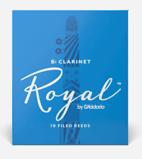 Rico Royal Bb Clarinet Reeds - 10-pack - Ideal For Advanced. Strength: 2.5