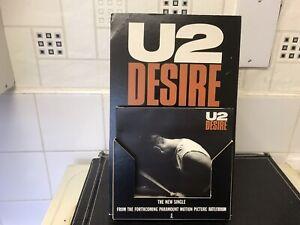 U2 Desire Rattle & Hum Cardboard Shop Counter Display Stand Very Rare