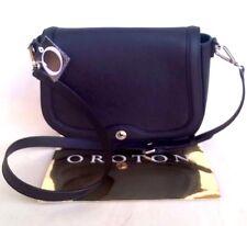 NEW Oroton Melanie Satchel Crossbody Bag Handbag Messenger Crossed Leather Black