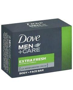 Dove Men Care Extra Fresh Soap Moisturising cream Body & Face Bar 90g X 10 BARS