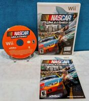 NASCAR Unleashed (Nintendo Wii, 2011) with Manual - Tested & Working