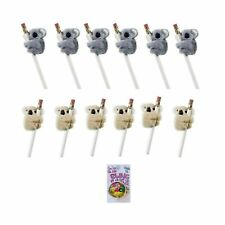 Koala Clip On Pencil Huggers 12 Pack Arms and Legs Clamp on to Pencils Pens