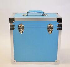 "Steepletone SRB-2 LP Vinyl Retro Record Storage Case Holds 50 12""LPs - L Blue"
