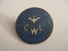 RARE OLD CWL FOR WAR SERVICE AT HOME ENAMEL BROOCH PIN BADGE