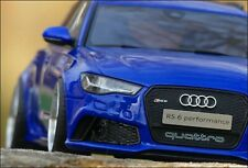 "1:18 Tuning Audi RS6 PERFORMANCE / ""NOGARO BLUE EDITION"" mit ""EVO Alu-Felgen"""