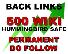 500 Wiki Article Contextual High TF Authority Manual SEO BACKLINKS