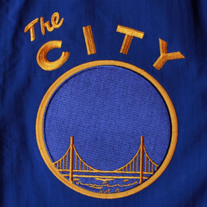 Mitchell & Ness Golden State Warriors Nothing But Net THE CITY Warm Up Jacket