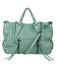 Kooba GK0953/25 Dahlia Satchel Dusty Teal Genuine Leather Shoulder Handbag NEW