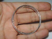 Sterling Silver 2 1//8 Inch Endless Hoop Earrings 1.3mm 54mm