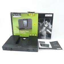 Technika SP1113 Portable Black Speaker Dock for iPhone or iPod
