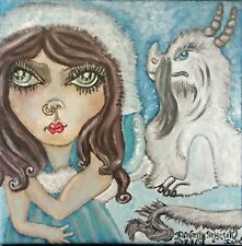 FAIRY ART PRINT Arctic Cloud Dragon by Kimberly Helgeson Sams 8x10 Gothic Poster