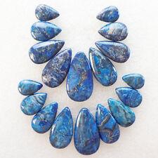 2 Set Blue Crazy Lace Agate Teardrop Pendant Bead (send randomly) R7297