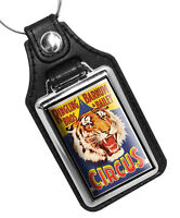 Ringling Brothers Barnum & Bailey Circus Tiger Head Faux Leather Key Ring