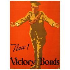 Now! Victory Bonds Poster Deco FRIDGE MAGNET, 1917 World War 1 Canada