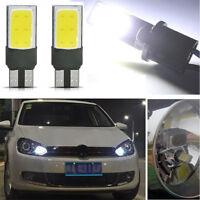 2x T10 W5W 194 168 6W LED No Error COB Canbus Side Lamp Wedge Light Bulb White