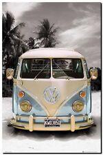 """VW COMBI CAMPER POP ART CANVAS PRINT poster 16""""X 12"""""""
