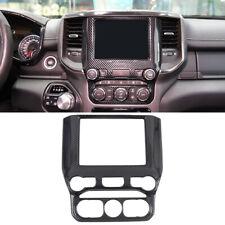 Carbon Fiber Inner Dashboard Navigation Frame Cover For Dodge Ram 1500 2019-2020