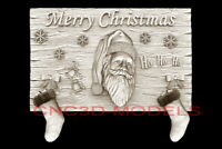 3D Model STL for CNC Router Artcam Aspire Merry Christmas Santa Claus D720