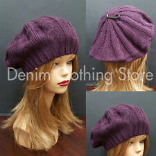 Women's Spring Winter Summer Crochet Knit Slouchy Beanie Beret Cap Hat One Size